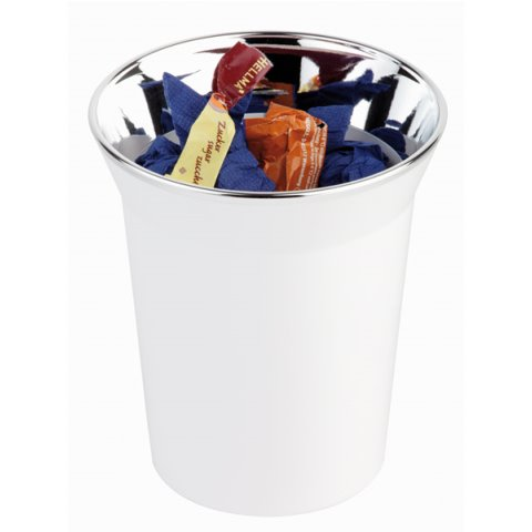 Table Waste/Cutlery Bin TOP CHROM Ø13cm SAN/Plastic white - 1pc.