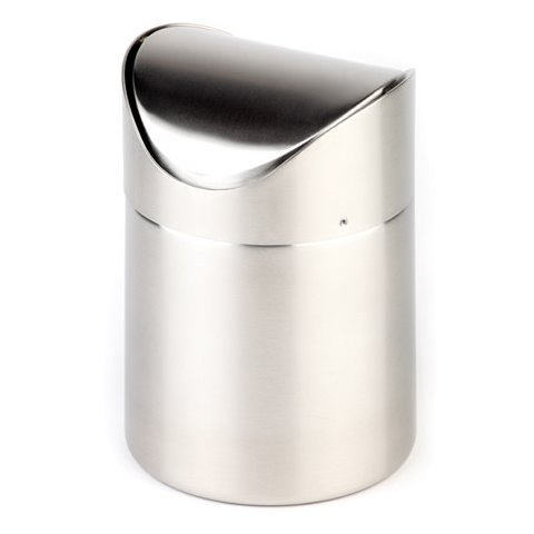 Table Waste Bin 0,7ltr. Ø10cm/height13cm Stainless Steel - 1pc.