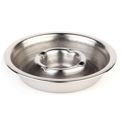 Ashtray Ø14cm/height2,5cm STAINLESS STEEL - 1pc.