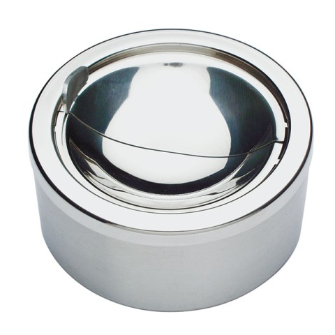 Ashtray Ø12cm/height5,5cm STAINLESS STEEL - 1pc.
