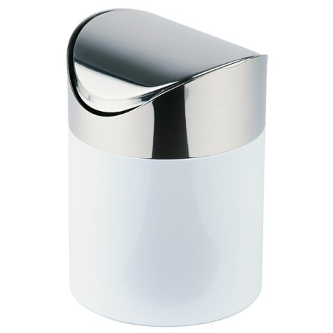Table Waste Bin 1,2ltr. Ø12cm/height17cm Stainless Steel  - 1pc.