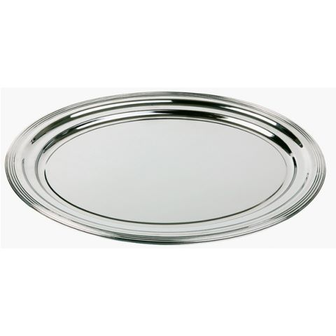 Party Tray oval CLASSIC 46x34cm Metal - 48pcs.