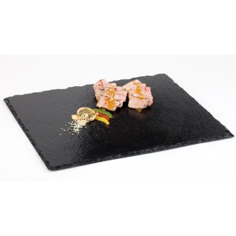 Natural Slate Tray GN1/2 height4-7mm black - 1pc.