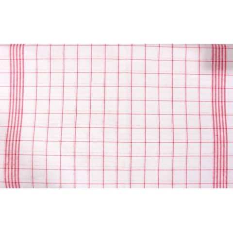 Microfiber Cloths PRONTO 43x70cm white/red - 10pcs.