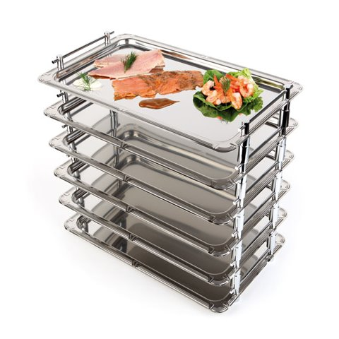 System-Tray for Thermo-Box GN1/1 53x32,5cm Stainless - 1pc.