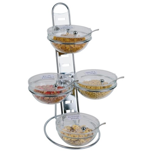 Buffet Manager BIG 12-pcs. 39x31cm/height66cm chromed - 1pc.