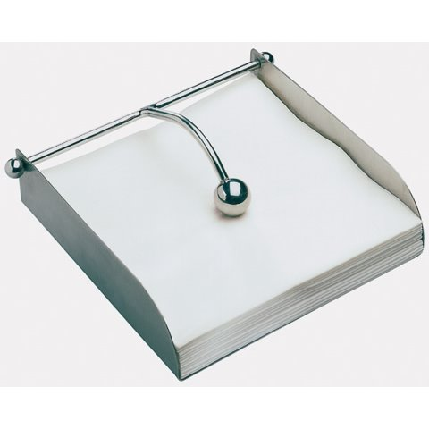 Napkin Holder BAR 17x17cm/height5cm Stainless Steel - 1pc.