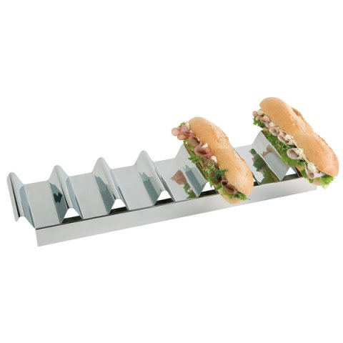 Snackpresenter 47,5x10,5cm/height6cm Stainless Steel - 1pc.