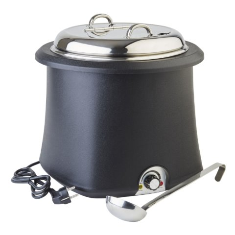 Electric Soup Warmer 10ltr Ø38cm/height36,5cm black - 1pc.