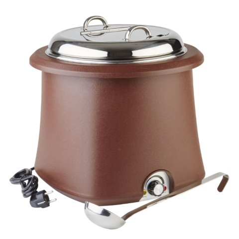 Electric Soup Warmer 10ltr. Ø38cm/height36,5cm brown - 1pc.