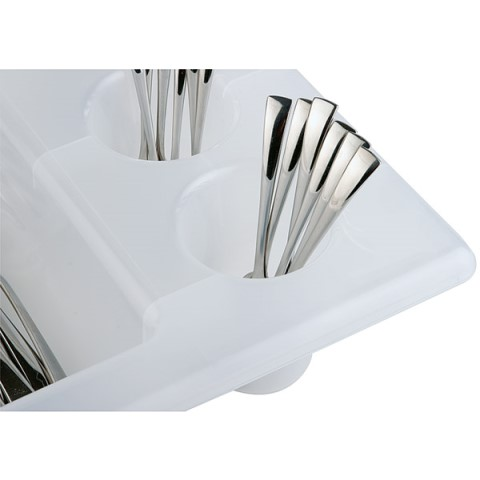GN1/1 Cutlery Box height10cm PP-Plastic white - 1pc.
