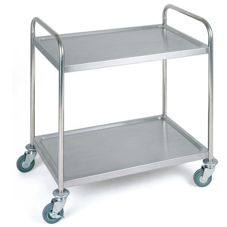 Service Trolley 2Trays 91x59cm/height93cm Stainless - 1pc.