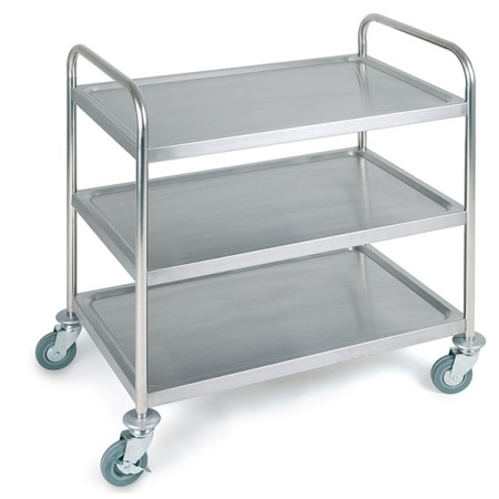 Service Trolley 3Trays 91x59cm/height93cm Stainless - 1pc.