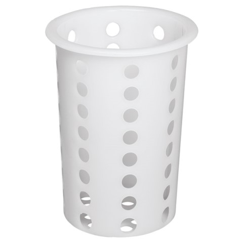 Cutlery Basket Ø9,7cm/height13,7cm PP-Plastic white - 1pc.