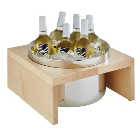 Bottle Cooler BRIDGE 35x35cm/height20cm Wood light - 1pc.