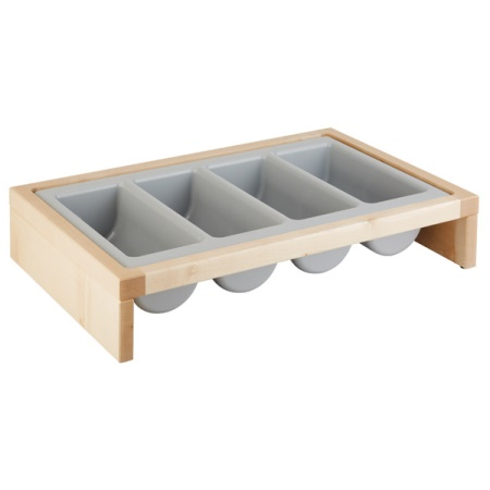 Cutlery Organizer BRIDGE 2pcs.Set 57,5x47cm Wood light - 1pc.