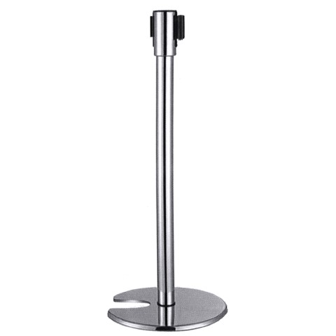 Barrier Post Ø35cm/height95cm Stainless Steel belt/red - 1pc.