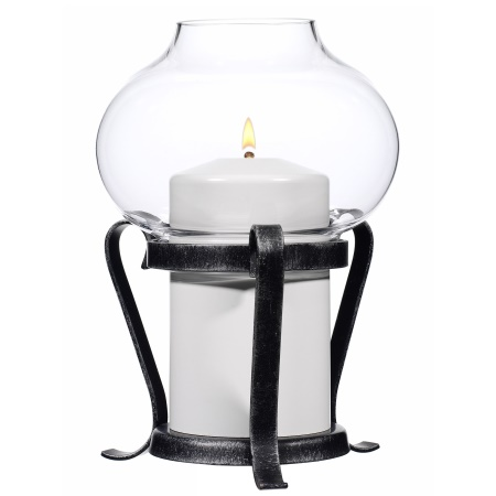 NATURA Table lamp Height17cm Wrought Iron black - 1pc.