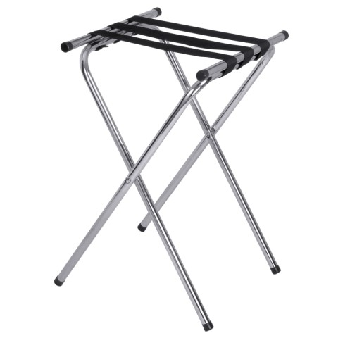 Folding Tray Stand 49x48cm/height74cm Metal - 1pc