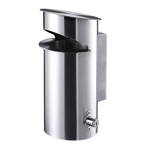 Ashtray Outdoor Ø13cm/height28cm Stainless Steel - 1pc.