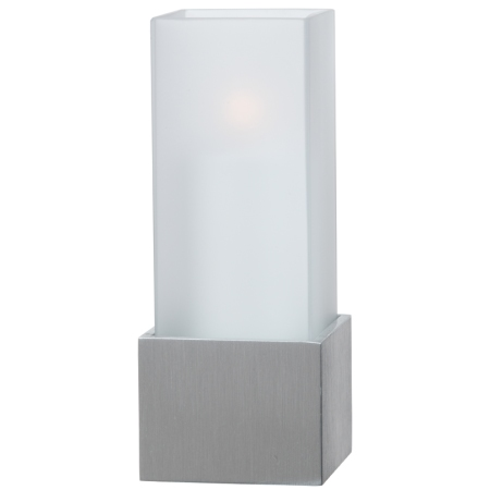 CUBICO Table lamp Height18cm Metal, brushed nickel finish - 1pc.