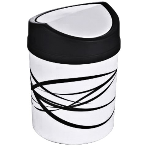 Table Top Waste Bin Ø12,5cm/height18cm Plastic white - 1pc.