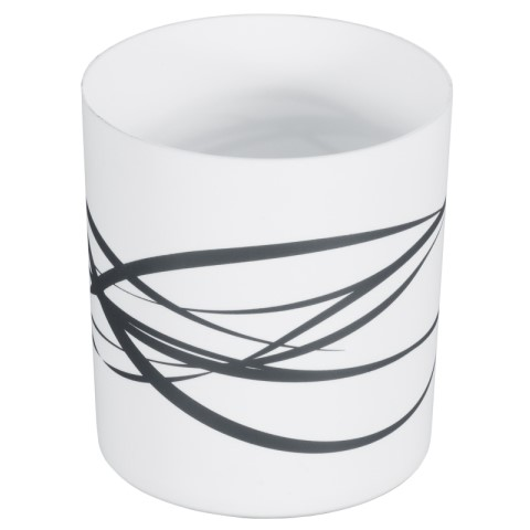 Table Top Waste Bin Ø13cm/height14cm Plastic white - 1pc.