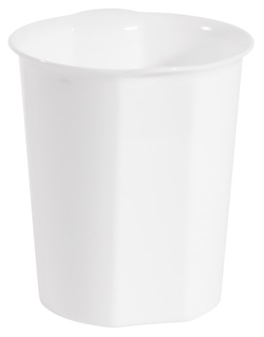 Table Top Waste Bin Ø13cm/height15cm Plastic white - 1pc.