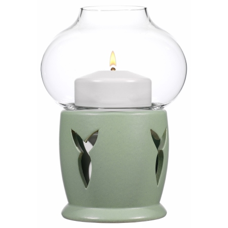 FLORA Table lamp  Ø11cm/Height16cm CERAMIC green - 1pc.