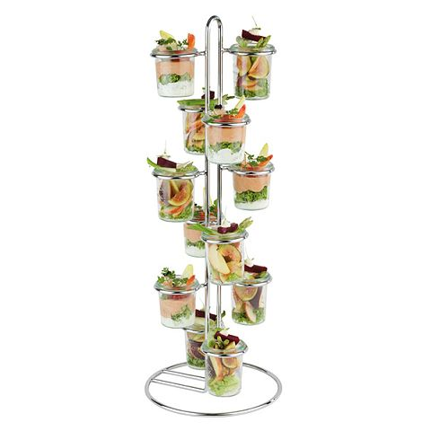 Serving Stand WECK Ø22cm/height59cm Metal - 1pc.