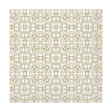 Lunch Napkins CLAUDIO 33x33cm 1/4fold TISSUE gold - 600pcs