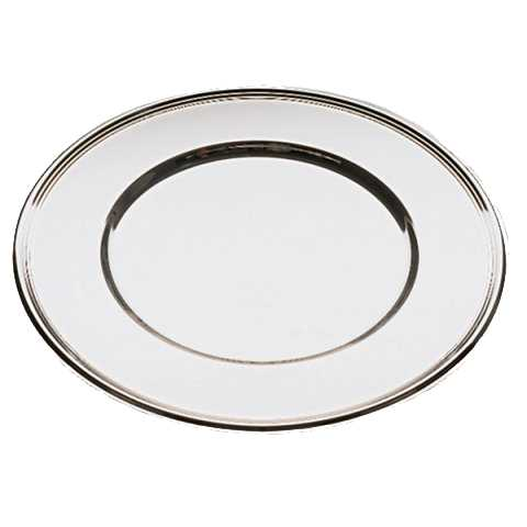 Plate Tray Ø30,5cm Stainless Steel mirror polished finish - 1pc.
