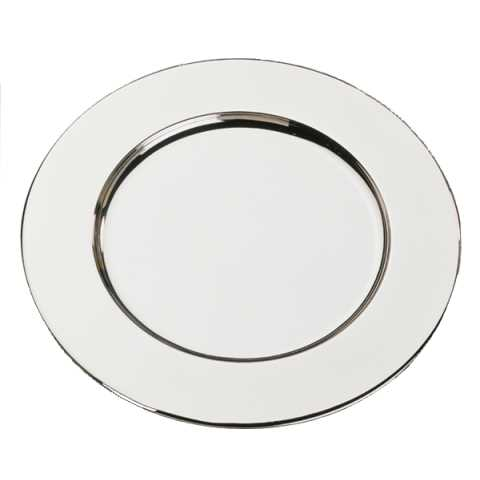 Plate Tray Ø31cm Stainless Steel mirror polished finish - 1pc.
