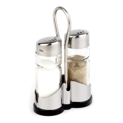 Pepper&Salt Menage ECONOMIC 2-part Glass/Stainless Steel - 1pc.