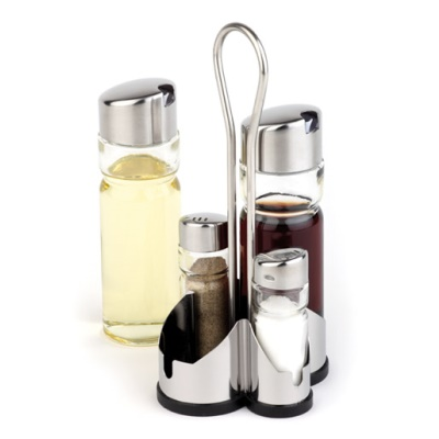 Vinegar&Oil Menage ECONOMIC 4-part Glass/Stainless Steel - 1pc.