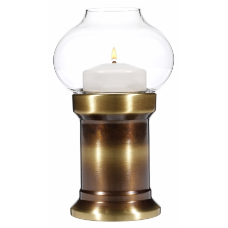 PURA Table lamp Height20cm Metal, burnished brass finish 1pc.