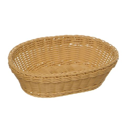 Basket PROFI LINE 25x19cm/height6,5cm PP/Plastic light beige 1pc