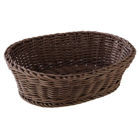 Basket PROFI LINE 25x19cm/height6,5cm PP/Plastic brown 1pc.