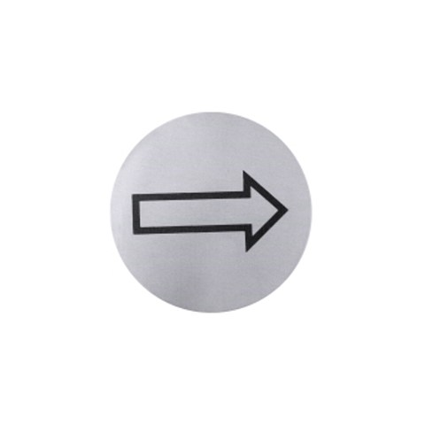 Signs Ø7,5cm THIS WAY Stainless Steel - 1pc.