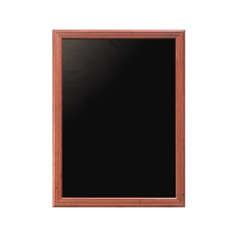 Menu Board/Blackboard 40x50cm Wood Beech mahoganyal - 1pc.