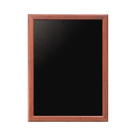 Menu Board/Blackboard 50x60cm Wood Beech mahoganyal - 1pc.