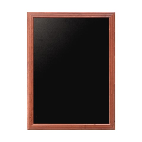 Menu Board/Blackboard 60x80cm Wood Beech mahoganyal - 1pc.