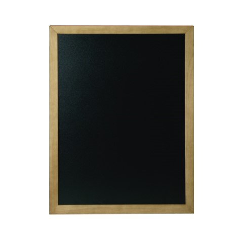 Menu Board/Blackboard 50x60cm Wood Beech teak - 1pc.
