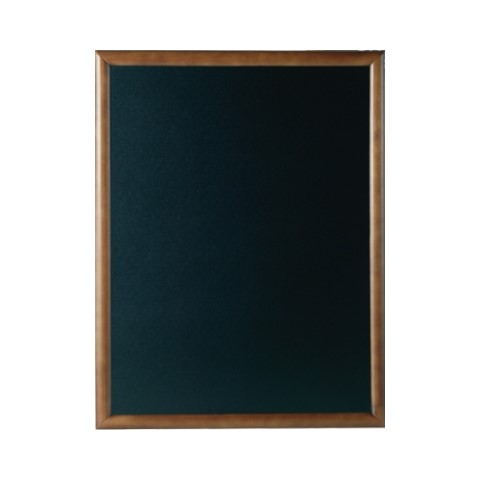Menu Board/Blackboard 60x80cm Wood Beech dark brown - 1pc.
