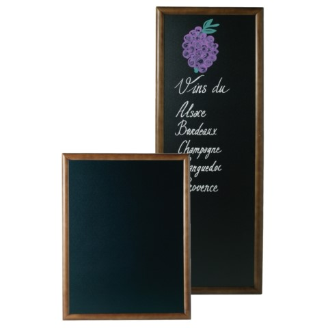 Menu Board/Blackboard 56x120cm Wood Beech dark brown - 1pc.