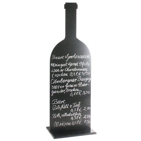 Menu Board/Blackboard 35x105cm Plastic black - 1pc.
