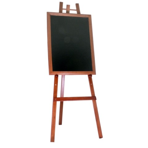 Easel for Blackboards 60x165cm Wood Beech mahogany - 1pc.