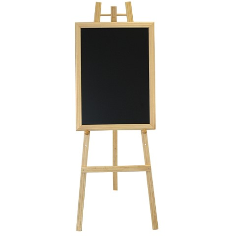 Easel for Blackboards 60x165cm Wood Beech natural - 1pc.