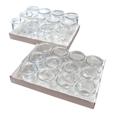 WECK Bottles 0,08ltr. Ø6cm/height5,5cm Glass - 12pcs.