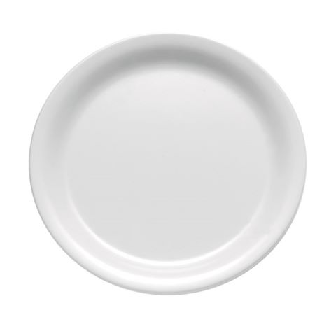Plate CASUAL Ø22,5cm/height2,5cm MELAMIN white - 1pc.